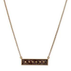 Lucky Brand Studded Bar Pendant Necklace,
